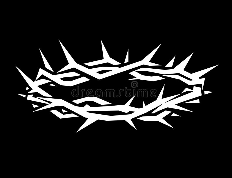 Crown of thorns royalty free illustration
