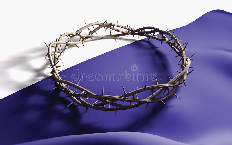 Crown of Thorns. A Crown of thorns on a dark cloth vector illustration
