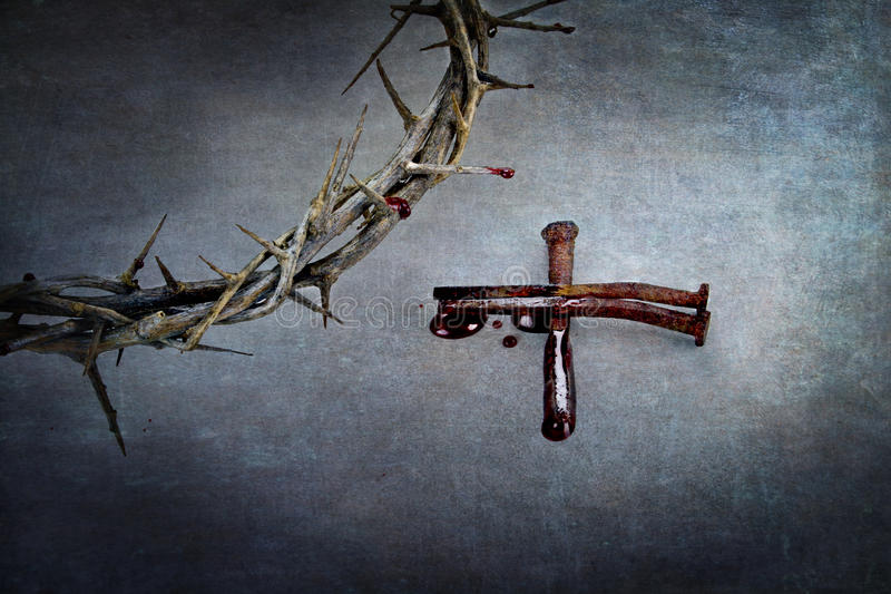Crown of Thorns and Cross of Nails royalty free stock photo