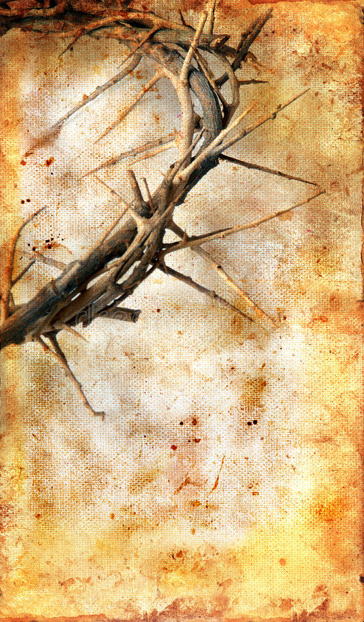 Crown of Thorns on a Grunge Background royalty free stock photography