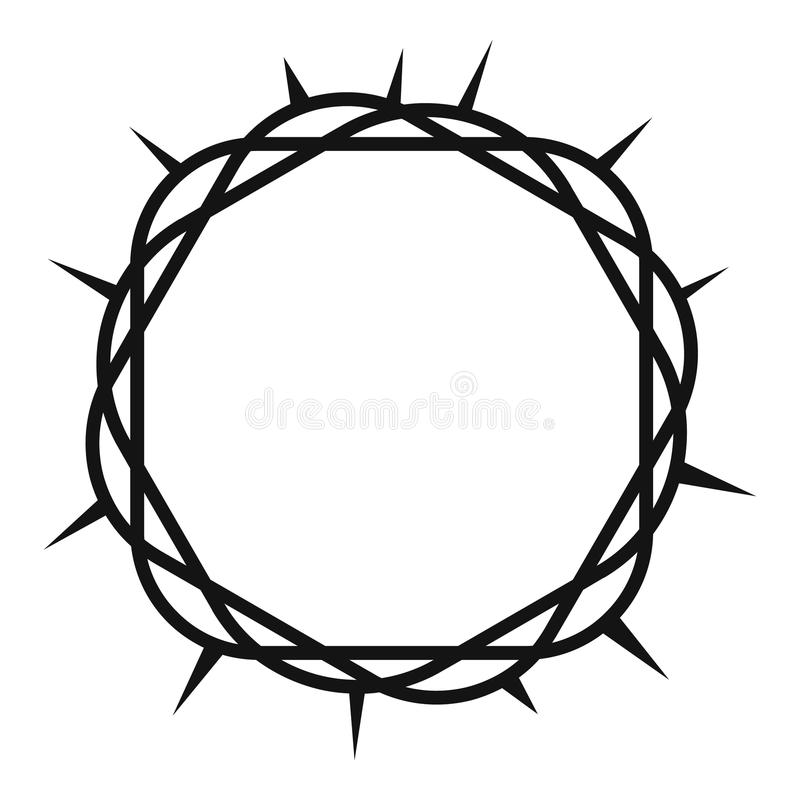 crown of thorns icon simple style stock vector illustration of rh dreamstime com crown of thorns vector free download Crown of Thorns Drawing