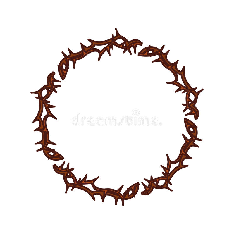 crown of thorns icon stock vector illustration of crucifixion rh dreamstime com crown of thorns vector image