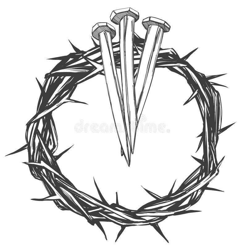crown of thorns nails easter religious symbol of christianity hand rh dreamstime com