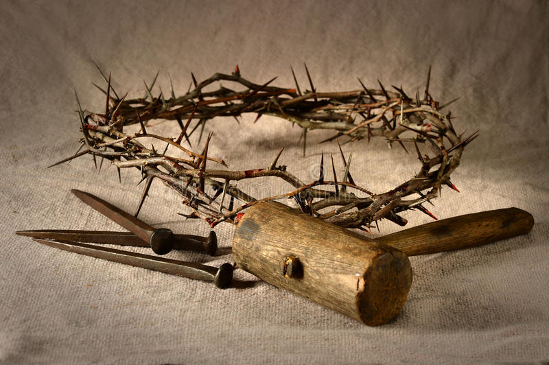 Crown Of Thorns And Nails Stock Image Image Of Passion