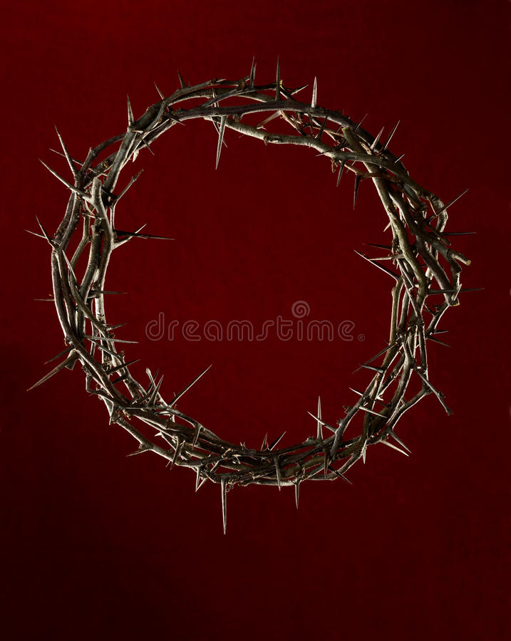 Download Crown Of Thorns Over Red Clothe Stock Photo - Image: 27448962