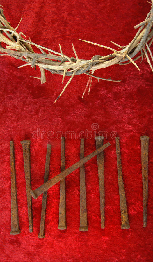 Crown of Thorns and Spikes stock photography