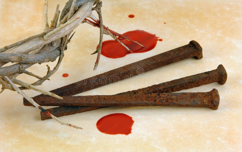 Crown of Thorns and Spikes royalty free stock images