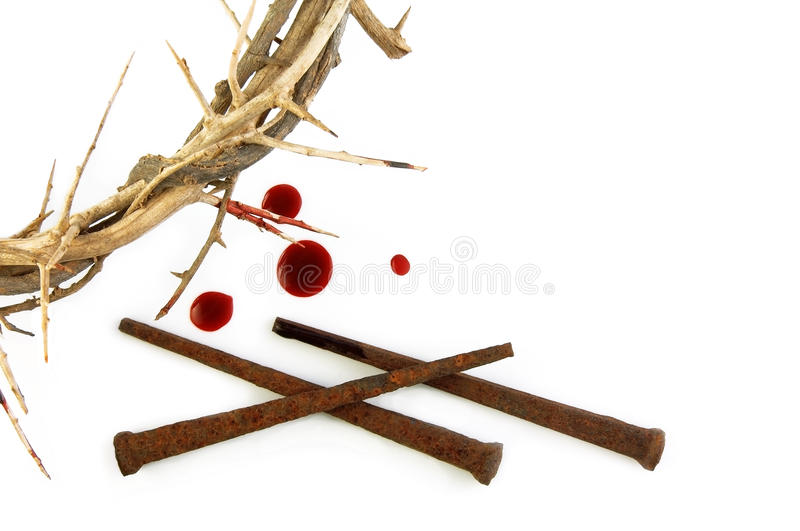 Crown of Thorns and Spikes stock photo