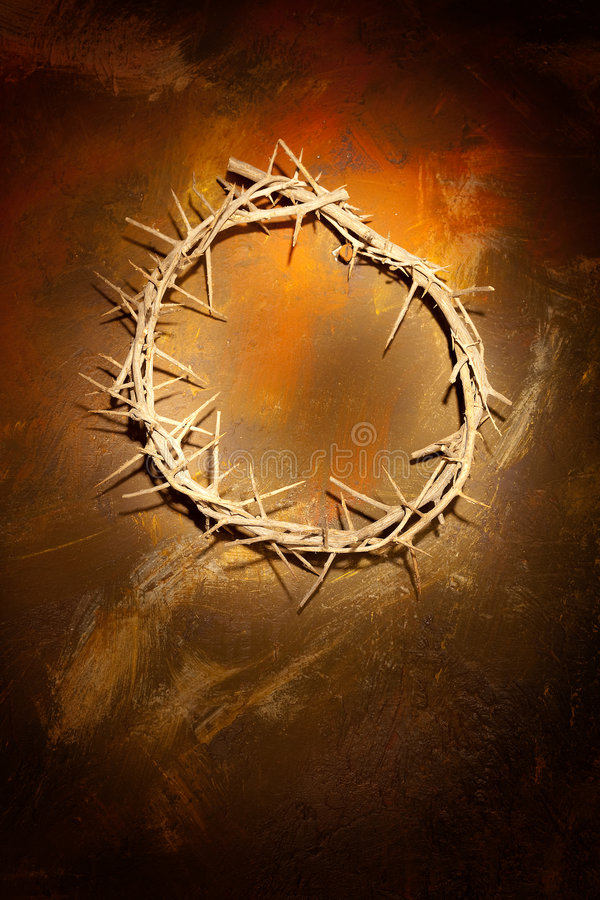 Crown of thorns on wall royalty free stock photos