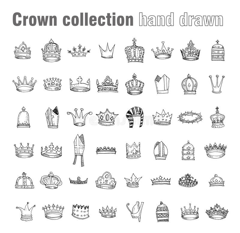 Free Crown, Vector Hand Drawn Vector Stock Photography - 52786982
