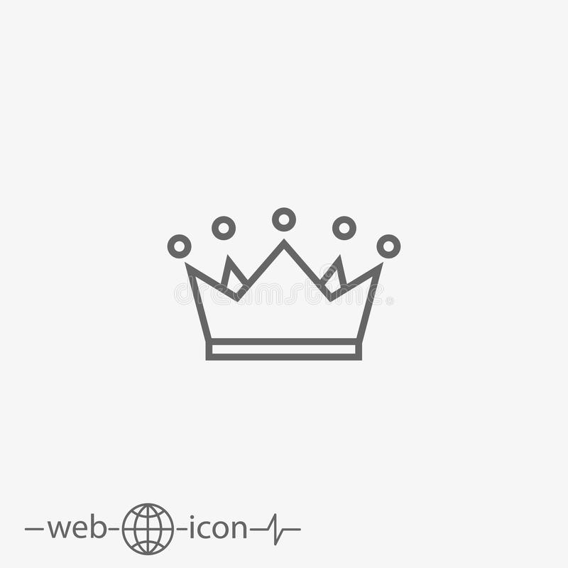 Crown vector icon royalty free illustration