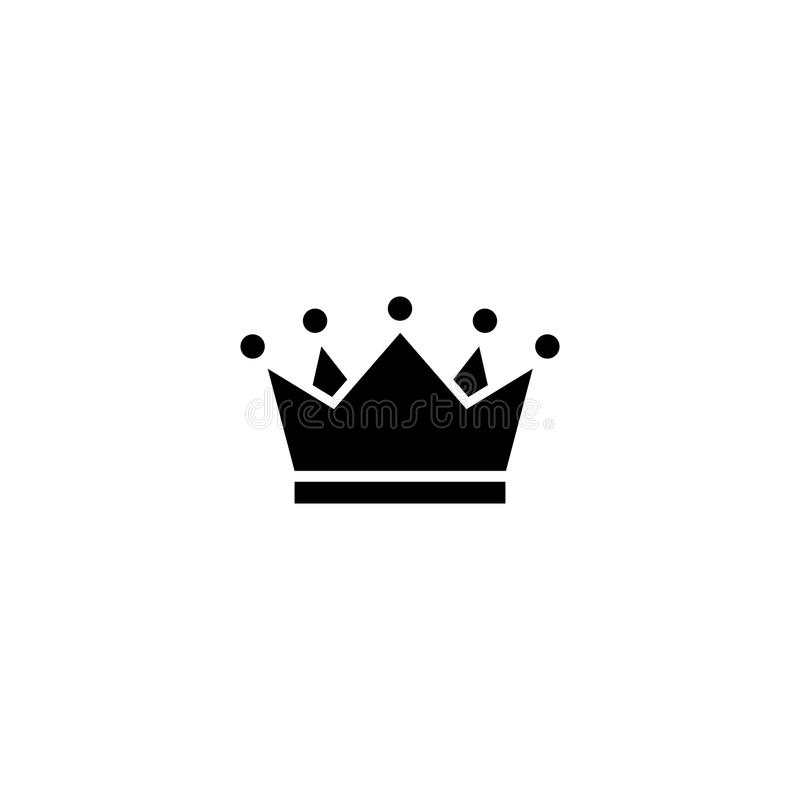Crown vector icon. On white background vector illustration