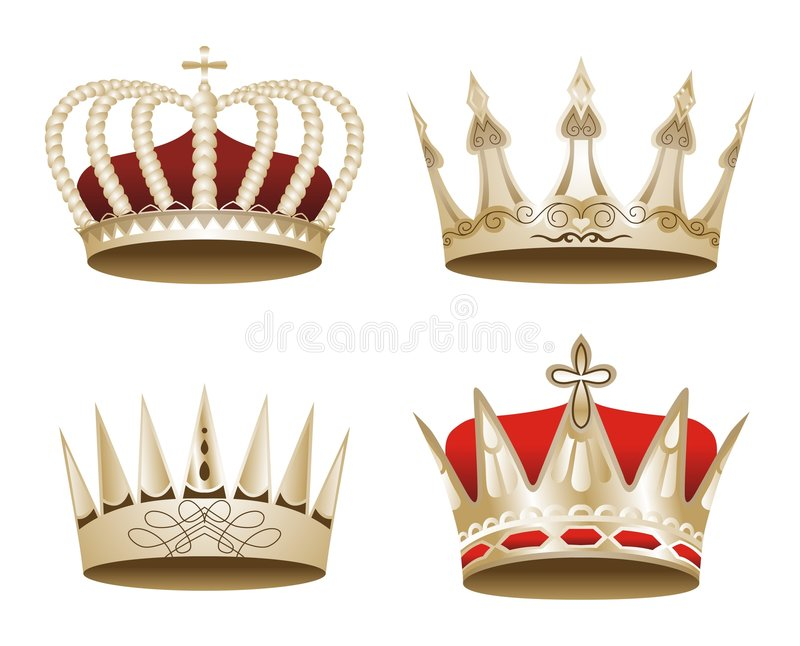 crown vectorized 免版税图库摄影