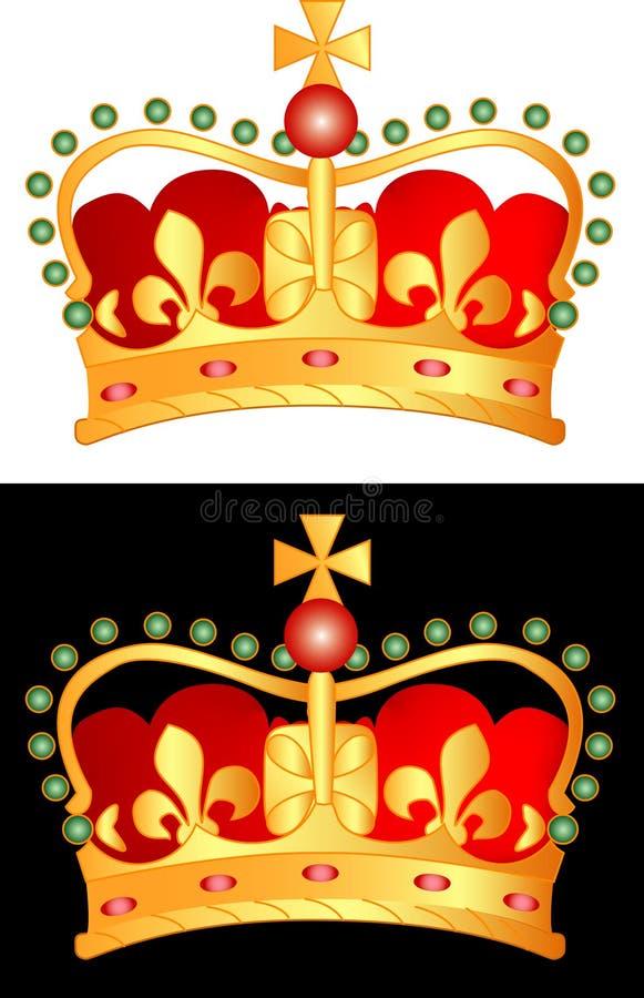 Crown1 dorato illustrazione vettoriale