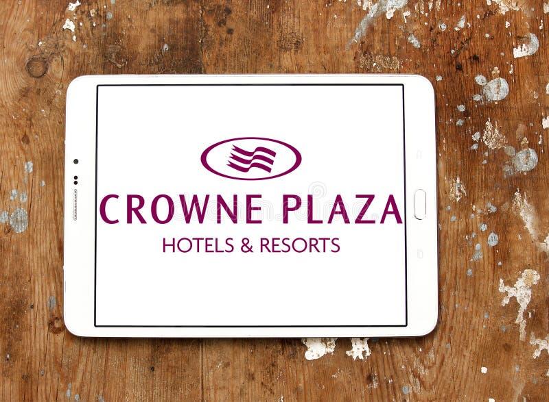 Crowne广场旅馆商标 库存图片