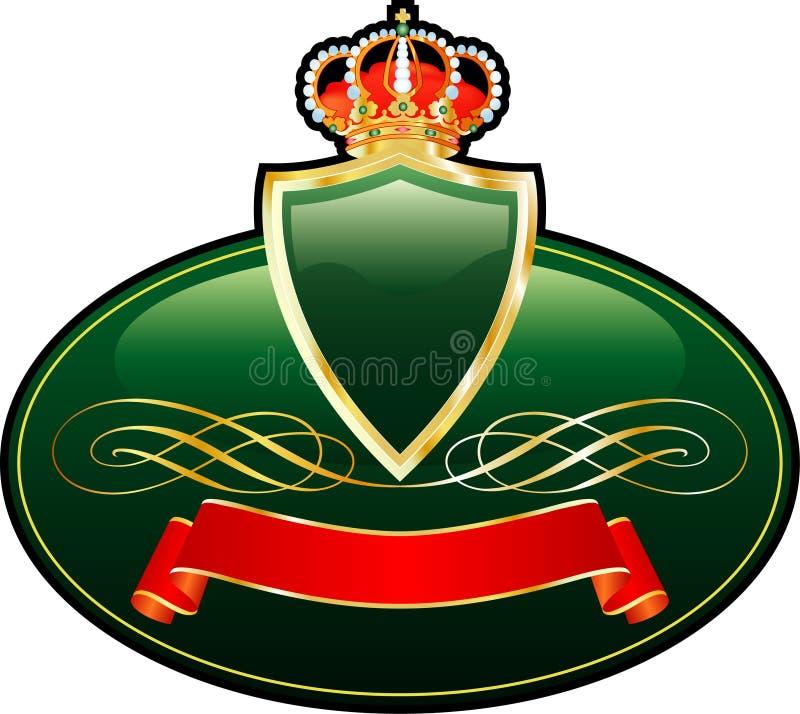 Crownmedallion ilustração royalty free