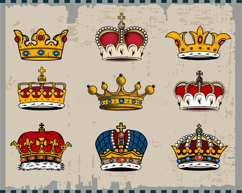 Download Crowns stock vector. Image of graphic, paragon, coronet - 11770828
