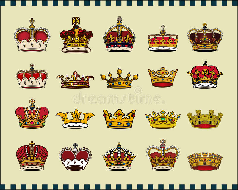 Download Crowns stock vector. Illustration of covering, empire - 11770837