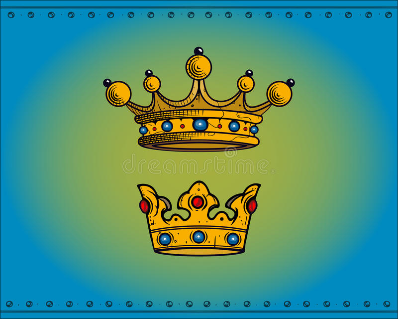 Download Crowns stock illustration. Image of covering, decor, headgear - 11770838
