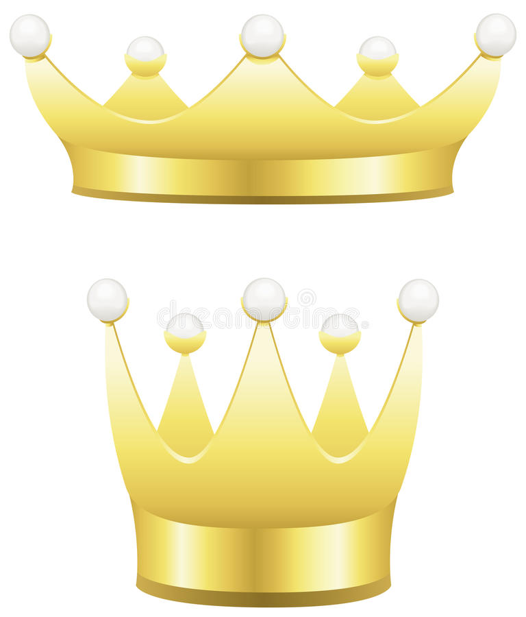 Download Crowns stock vector. Illustration of imperial, golden - 25254399