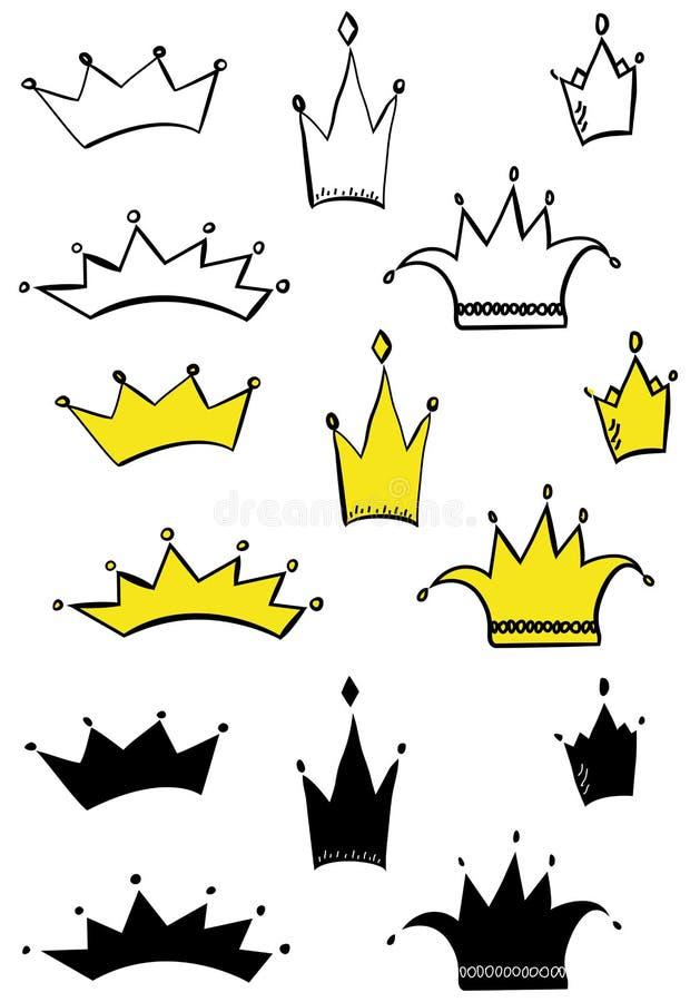 Download Crowns stock vector. Image of insignia, corner, emperor - 27831482