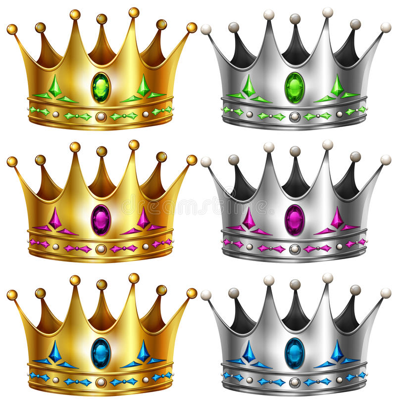 crowns illustrazione di stock