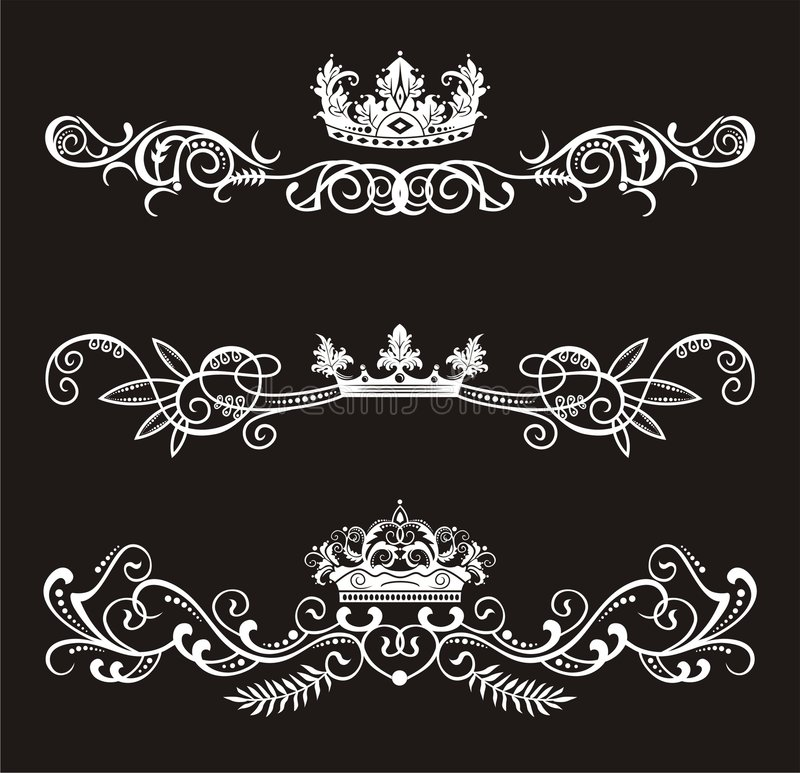 Crowns vector illustration
