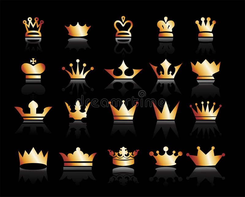 Download Crowns stock vector. Image of elegance, plant, vector - 9320293