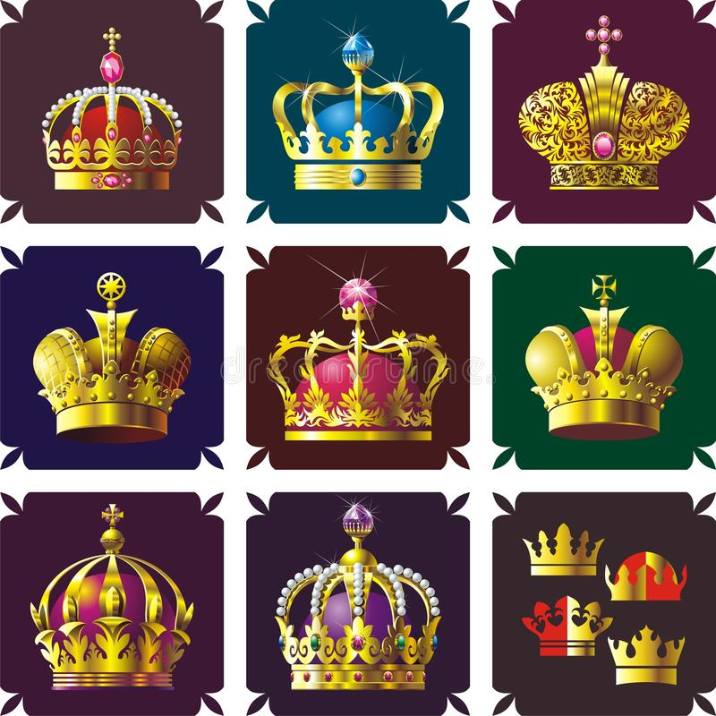 Free Crowns Royalty Free Stock Photos - 9763198