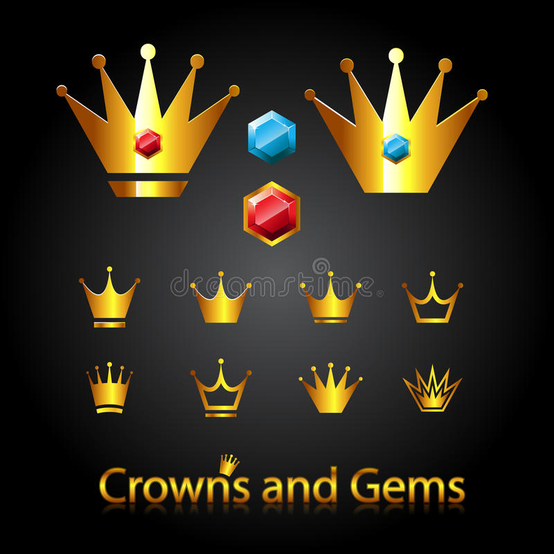 Download Crowns and gems stock vector. Image of insignia, ornate - 26211864