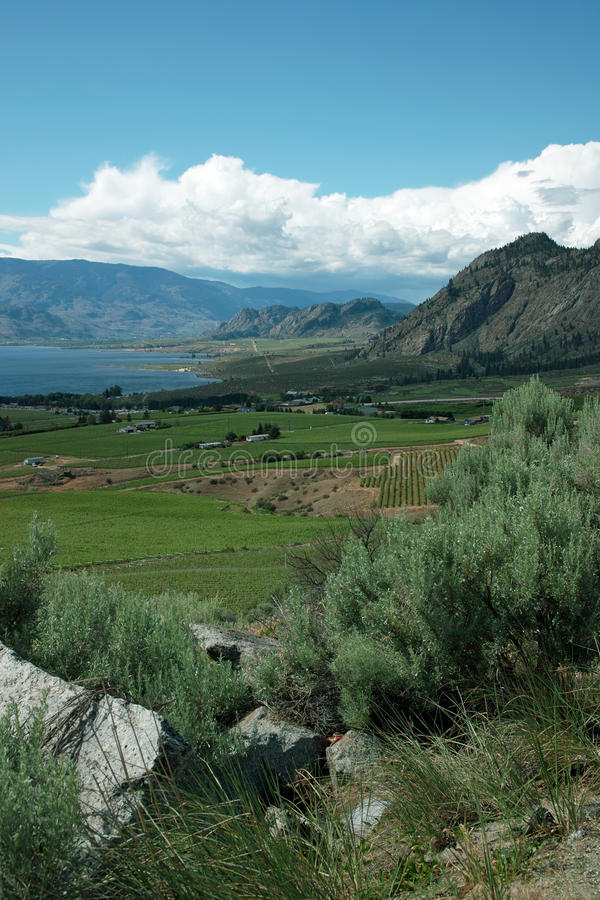 Crowsnest Highway View of Osoyoos BC Canada