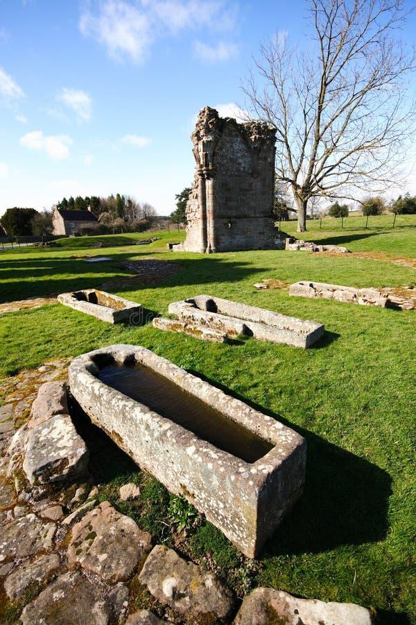 Croxden Abbey Grave arkivfoto