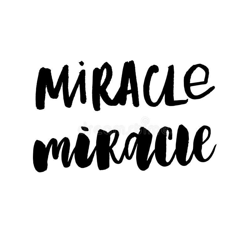 Croyez à la copie de citation de miracles dans le vecteur illustration libre de droits