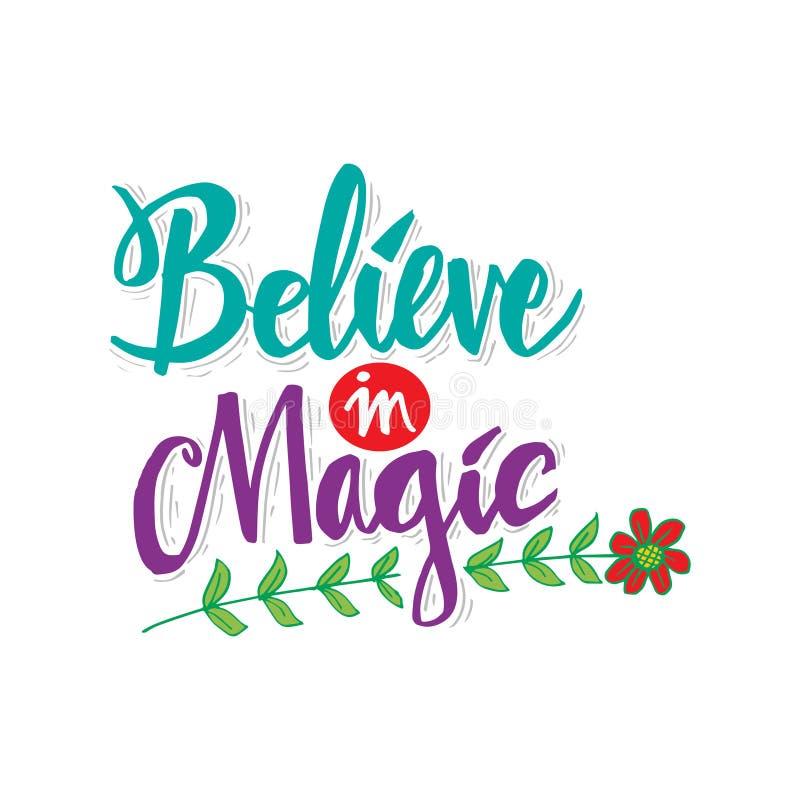 Croyez à la magie Citation de motivation illustration libre de droits
