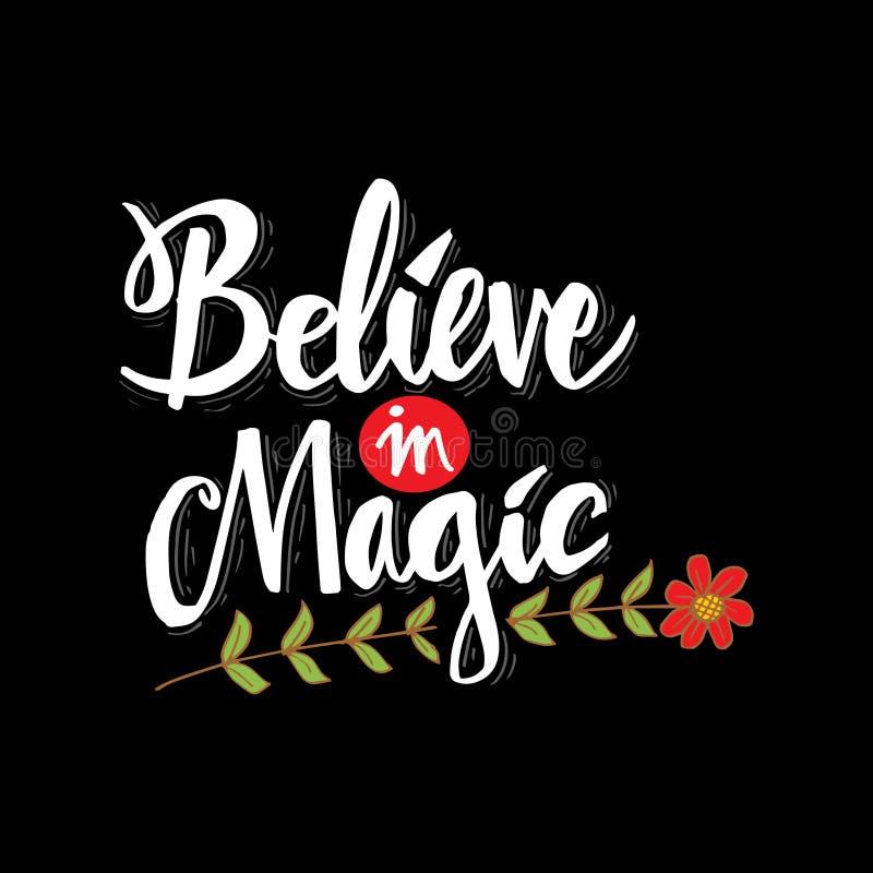 Croyez à la magie Citation de motivation illustration de vecteur