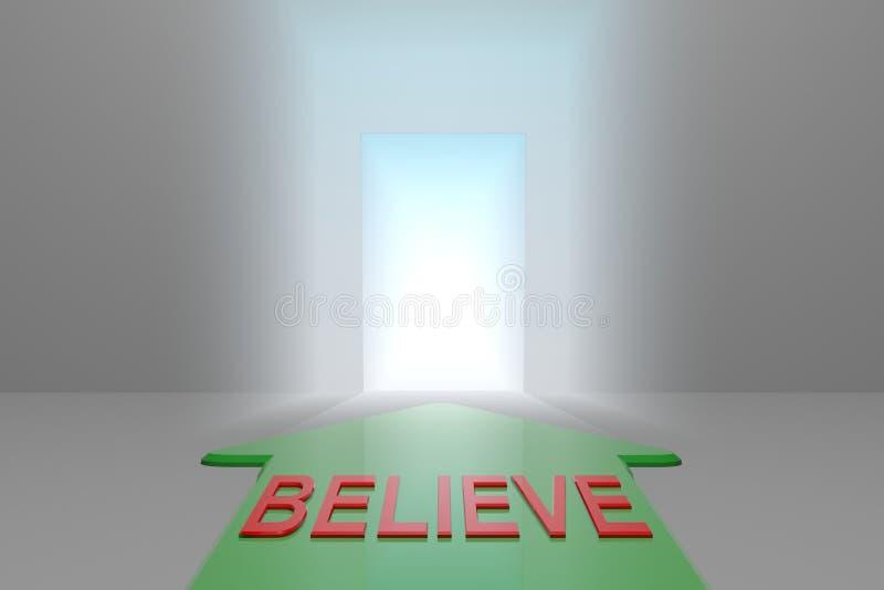 Croyez à la porte ouverte illustration libre de droits