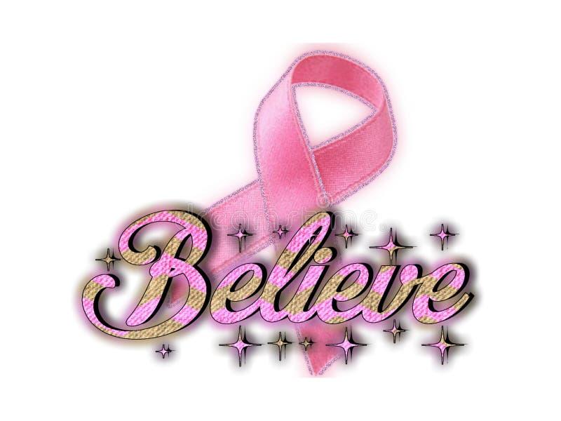 Croyez en cancer du sein de cause illustration stock