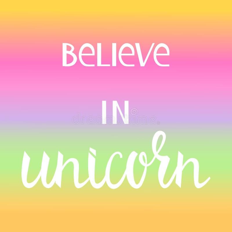 Croyez en licorne illustration libre de droits