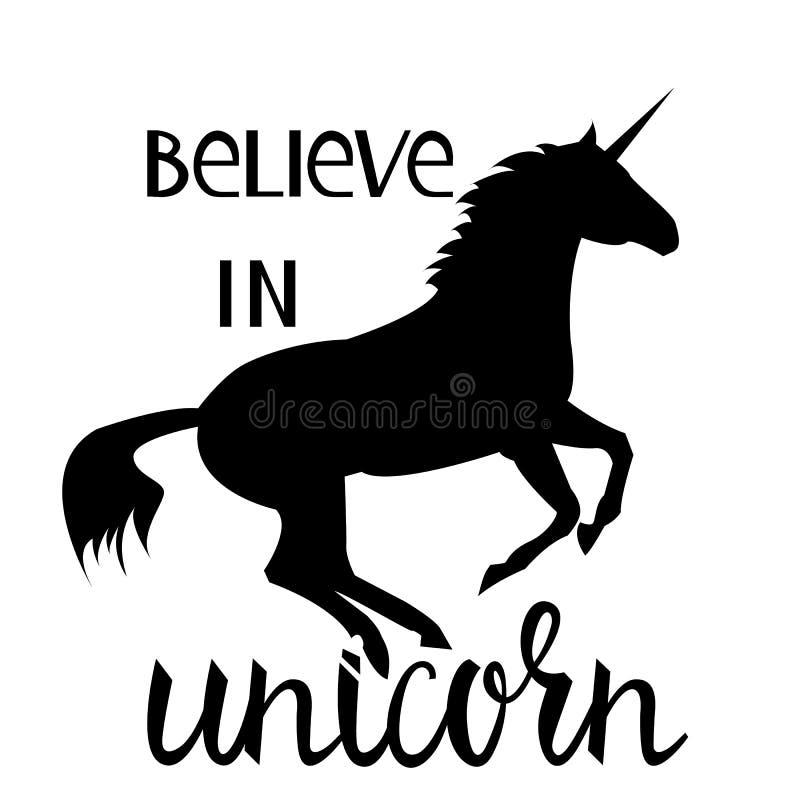 Croyez en licorne illustration de vecteur
