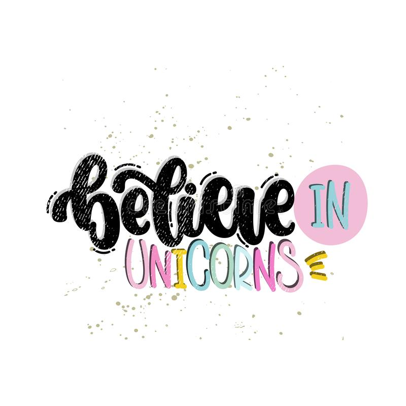 Croyez en licornes illustration stock