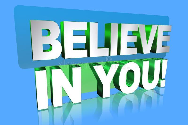 Croyez en vous illustration stock
