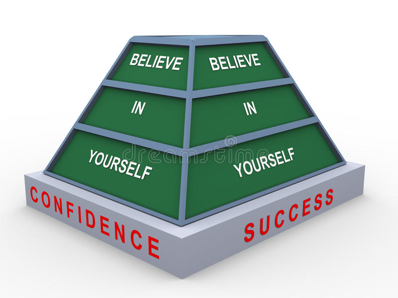 Croyez en vous-même illustration stock