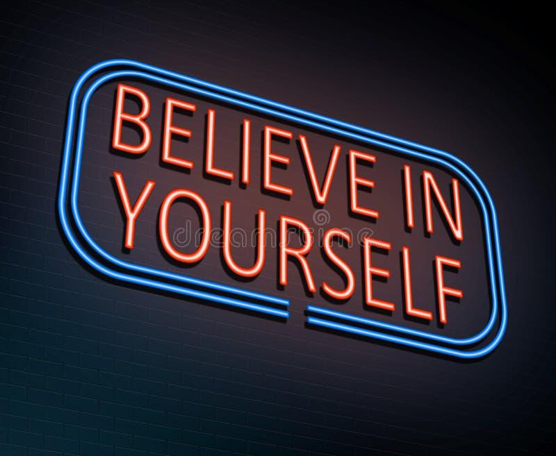 Croyez en vous-même le concept illustration libre de droits