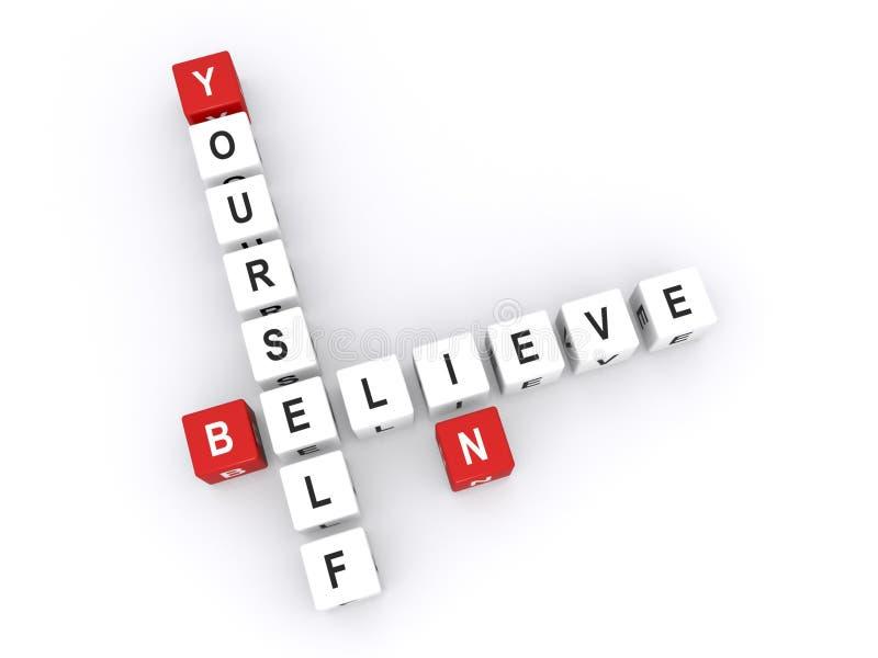 Croyez en vous-même le signe illustration libre de droits