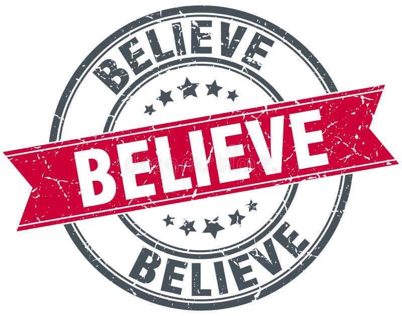 Croyez le timbre illustration libre de droits
