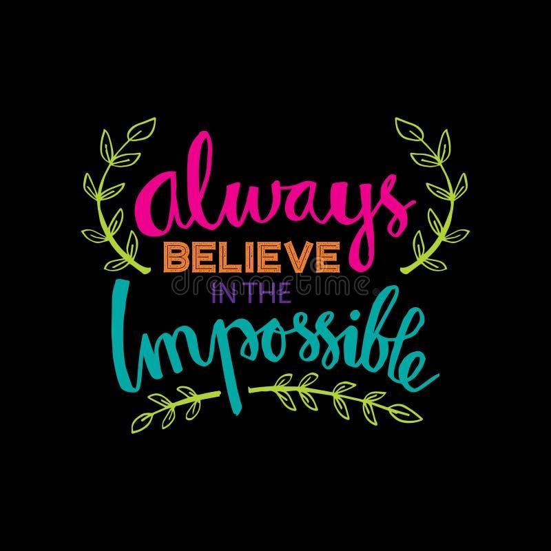 Croyez toujours en impossible illustration stock
