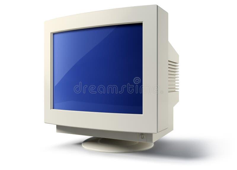 CRT παλαιά οθόνη υπολογιστών διανυσματική απεικόνιση