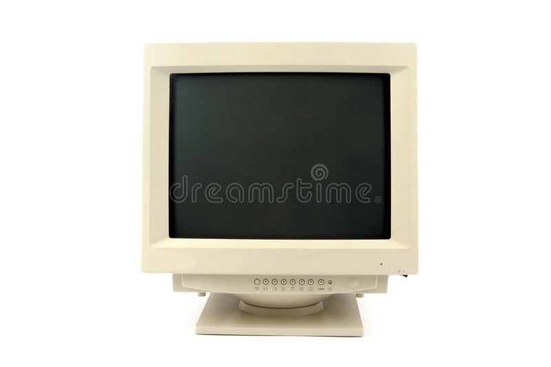 Crt monitor royalty free stock photography