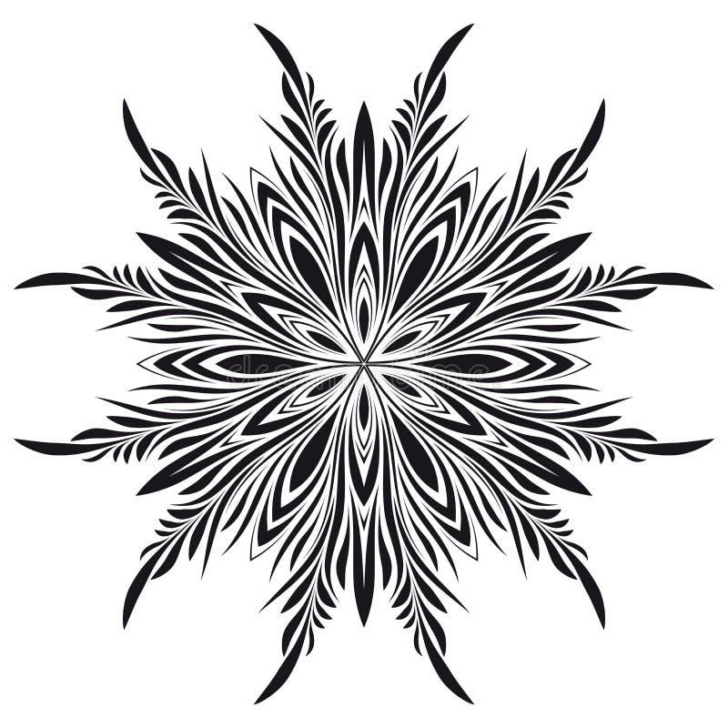 Cru abstrait floral illustration stock