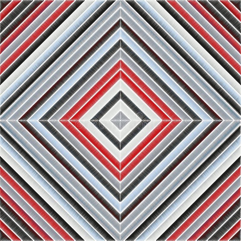 Cru avec la broderie de textile Broderie de textile pour la conception de textile Texture ethnique tribale de vecteur Conception  illustration libre de droits
